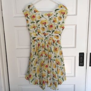Anthropologie Lil Matilija floral dress